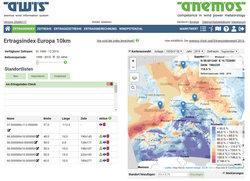 Webansicht Ertragsindex Europa 10km<br /> © anemos Gesellschaft für Umweltmeteorologie mbH