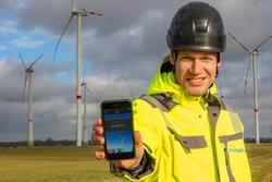 WONDER onSITE – neue App für die Inspektion von Windenergieanlagen<br /> © Deutsche WindGuard