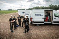 Serviceteams der Deutschen Windtechnik im Einsatz<br /> © Deutsche Windtechnik