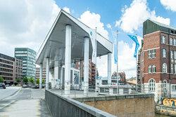 Wasserstofftankstelle in der Hamburger HafenCity<br /> © Hamburg Media Server