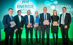 Die Preisträger des 7. German Renewables Awards 2018<br /> © Erneuerbare Energien Hamburg Clusteragentur GmbH