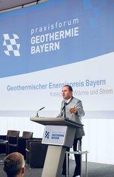 Staatsminister Hubert Aiwanger auf dem Praxisforum Geothermie.Bayern 2019<br /> © ENERCHANGE GmbH & Co. KG
