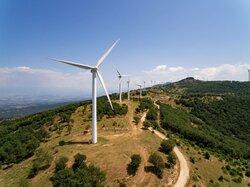 Parque eólico en Grecia<br /> © Mytilineos
