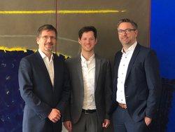 (rechts nach links) Andre Hirsch, Simon Hagedorn und Dr. Gunar Hering<br /> © ENERTRAG Aktiengesellschaft / GP JOULE GmbH