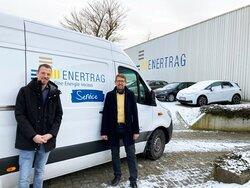 Jan-Christoph Neuhann & Rechts: Walter Sellner<br /> © ENERTRAG Aktiengesellschaft
