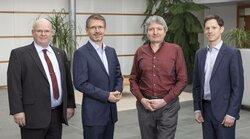 v.l.n.r. Matthias König, Dr. Gunar Hering, Jörg Müller, Simon Hagedorn<br /> ©  ENERTRAG Aktiengesellschaft