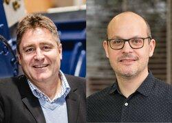 Links: Dr. Frank Dumeier (W.E.B Windenergie AG) | Rechts: Dr. Felix Bübl (ENERTRAG)<br /> © W.E.B/Benjamin Wal / © ENERTRAG