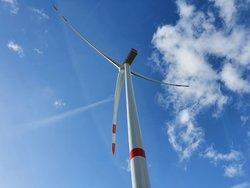 Windenergieanlage Nordex N149 in Peissen, die Anlage mit bisher größtem Rotor in SH<br /> © Jan Peter Ehlers