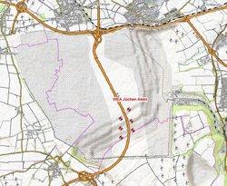 Standortkarte Windpark Jüchen<br /> © innogy SE