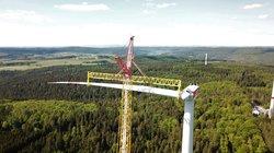 Windpark Rosskopf während der Bauphase<br /> © Juwi AG