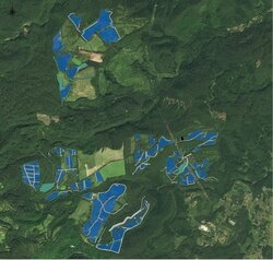 Anspruchsvolle Planung: Das 186 Hektar große Solarkraftwerk Azuma Kofuji soll im Frühjahr 2023 in Betrieb gehen<br /> © Juwi AG
