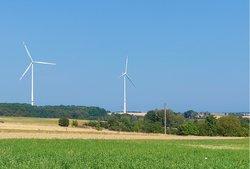 Seit August am Netz: Der Windpark Kröppen in der Südwestpfalz nahe der französischen Grenze<br /> © juwi