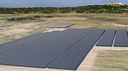Noch ist es nur eine Animation: Wenn der Solarpark Spanish Peaks am Netz ist wird er Strom für rund 28.000 US-Haushalte liefern.<br /> © juwi AG