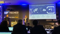 Hanno Schoklitsch auf der SAP TechEd<br /> © Kaiserwetter Energy Asset Management GmbH