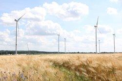 BU: Von UKA realisierter Windpark<br /> © Satztechnik Meißen