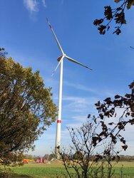 Der Repowering-Windenergiepark Warnsdorf nimmt planmäßig am 24. Februar 2021 seinen vollen Betrieb auf.<br /> © UKA