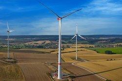 Die 238,5 m hohe N149/4.0-4.5 in Pustleben, Thüringen<br /> © VSB Holding GmbH / Nordex SE